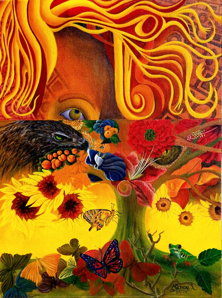 Mother Nature acrylic painting on canvas by award winning artist MIchael Arnold