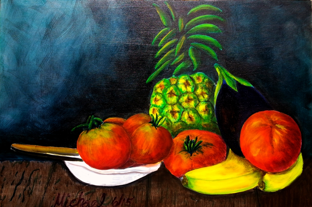 Summer Fruits original painting by Michael Arnold