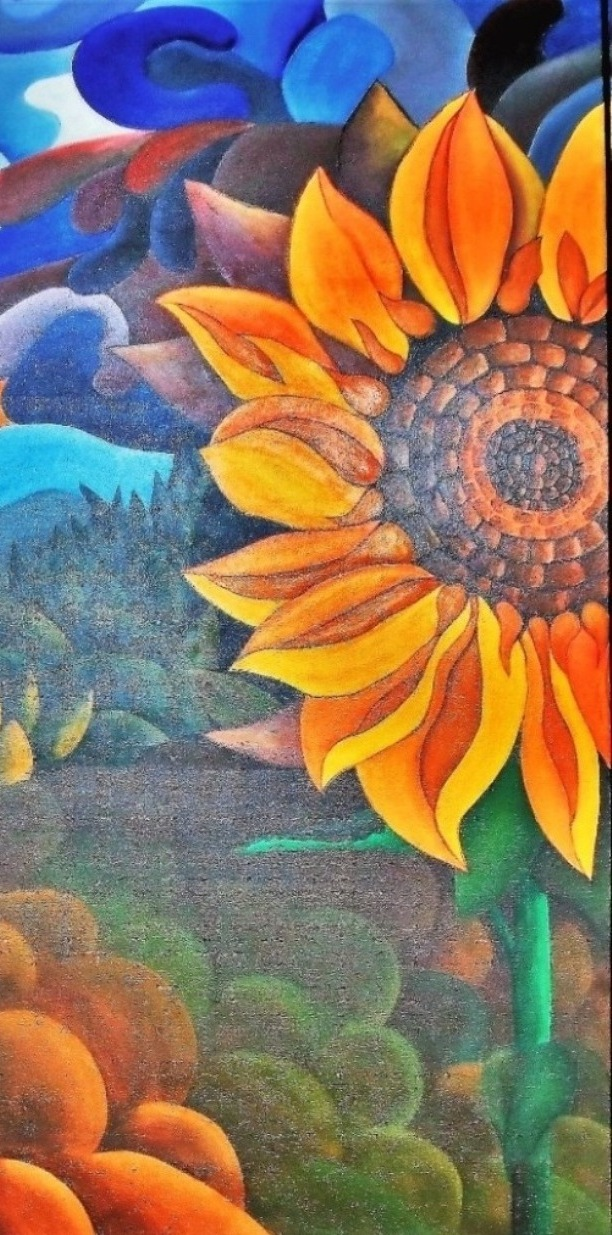 sunflower Painting by Michael Arnold Art