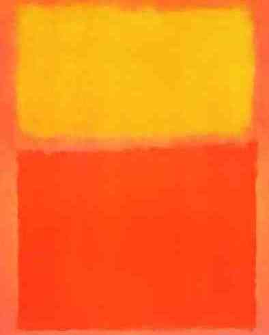 "abstract expressionist painting ""Orange and Yellow"" by artist Mark Rothco"